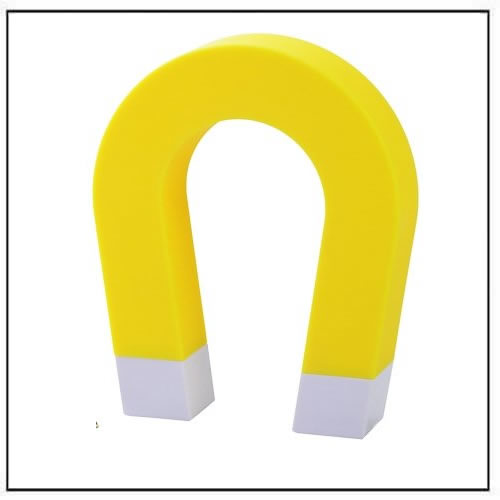 Creative U-shaped Magnetic Key Holder Chain Hanging Hook - Yellow