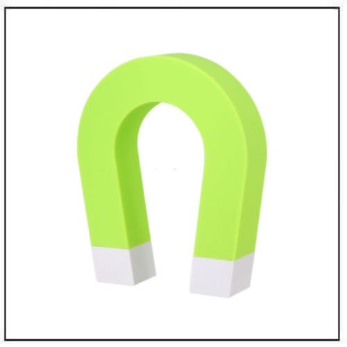 Horseshoe Shaped Magnetic Key Holder Wall-Door-mounted Green