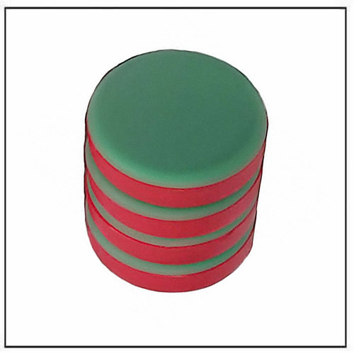 3-4″-dia-x-1-8″-thick-red-green-disc-plastic-coated-neodymium-magnet