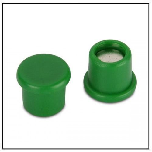 Office Neodymium Magnet with Green Plastic Coating