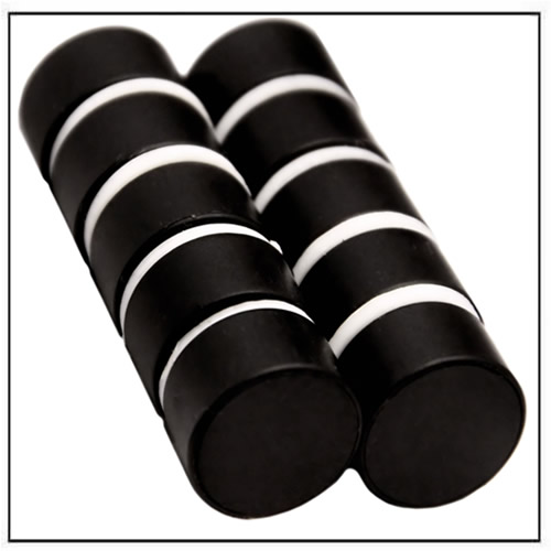 Plastic Coated Black Neodymium Disc Magnet
