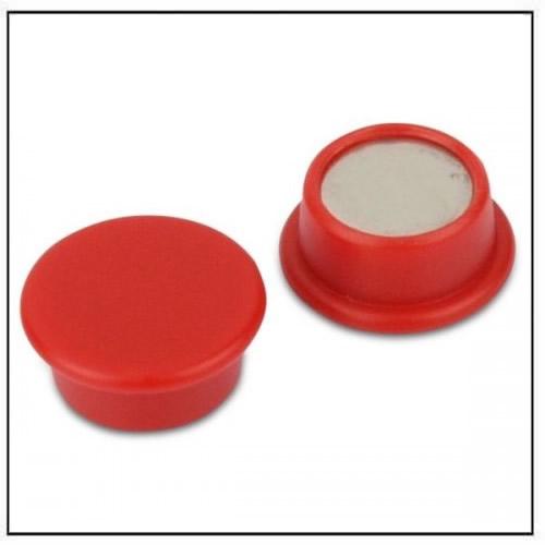 Red Round Office Neodymium Magnet in Plastic Housing