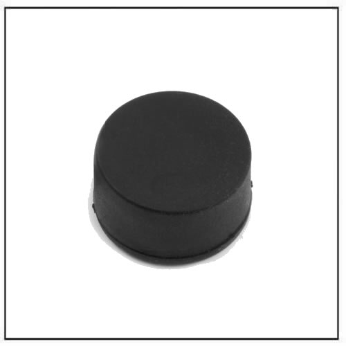 Ø 16.8 diameter x 9.4 mm thickness Black Rubber Coating Neodymium Disc Magnet