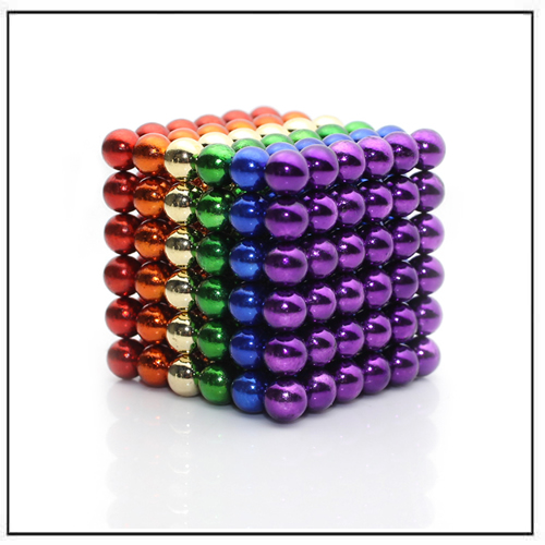 Custom NeoCube Metallic Rainbow Glazed Magnetic Spheres 5mm