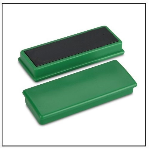 Green Rectangular Magnets with Flat Top - Equipped with Ferrite Magnets