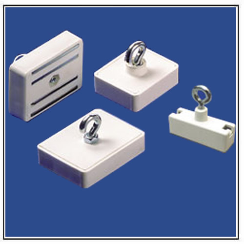 Rectangular Plastic Ceiling Magnets with Hook