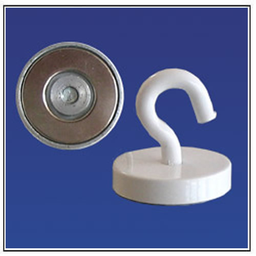 Strong Round Ceiling Magnets with Hook, NdFeB