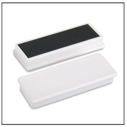White Plastic Coated Rectangular Ceramic Ferrite Magnet