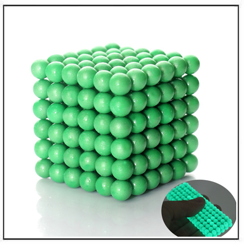 Zen Magnets Nano Dots w Green and Fluorescent Varnish