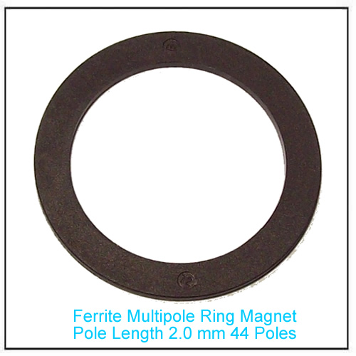 Ferrite Multipole Ring Magnet for Sensor Pole Length 2.0 mm 44 Poles