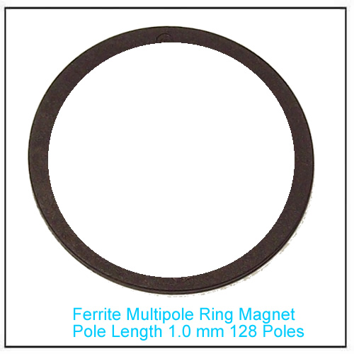 Magnetic Multipole Ring 1.0mm pole length, 128 poles