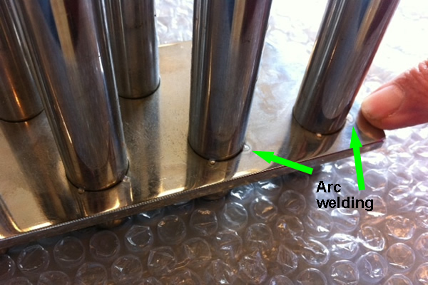 arc-welding magnetic tubes