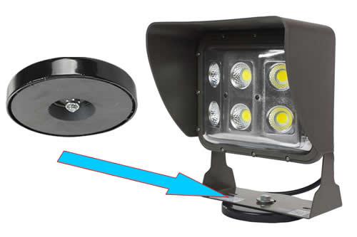 ferrite round base magnet for mounting light