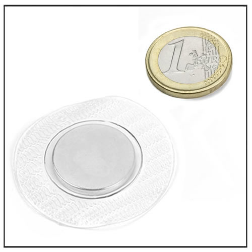 25mm Large Round PVC Cover Hidden Neodymium Sew-in Magnetic Snap