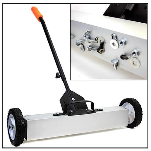 30 inch Magnetic Floor Sweeper with Handle Release