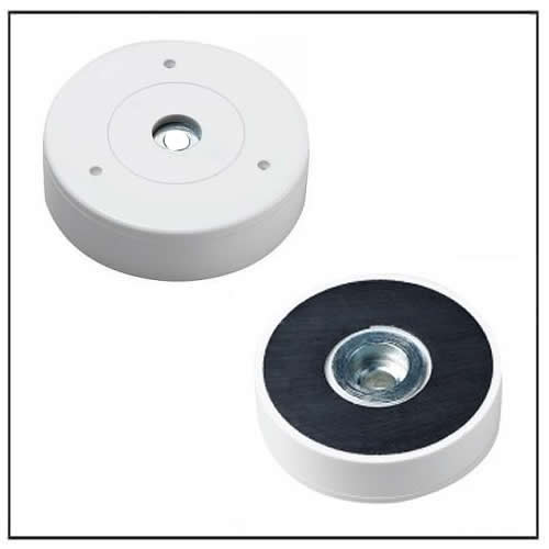Hard Ferrite Flat Pot Magnet with Plastic Housing and Countersunk Hole