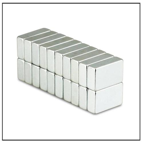 NdFeB Block Powerful Magnets N45 16 x 10 x 5 mm Zinc-plating