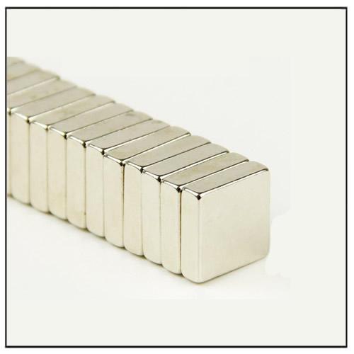 Neodymium Rare Earth Square Magnet 10 x 10 x 3 mm N48 Nickel Coated