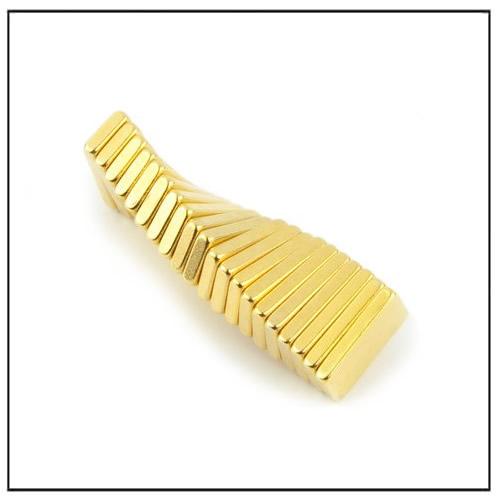 Rectangular NdFeB Magnet N48 10 x 5 x 1.5 mm Gold Coating