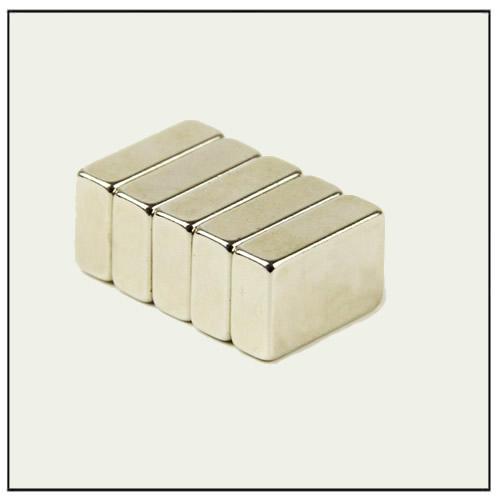 Strong NdFeB Block Permanent Magnets N35SH 15 x 10 x 5 mm Nickel
