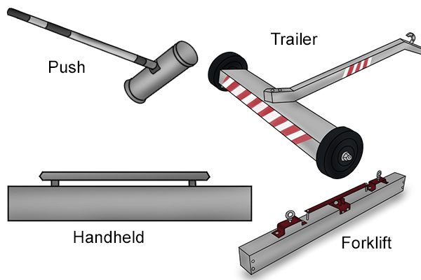 types of magnetic sweepers