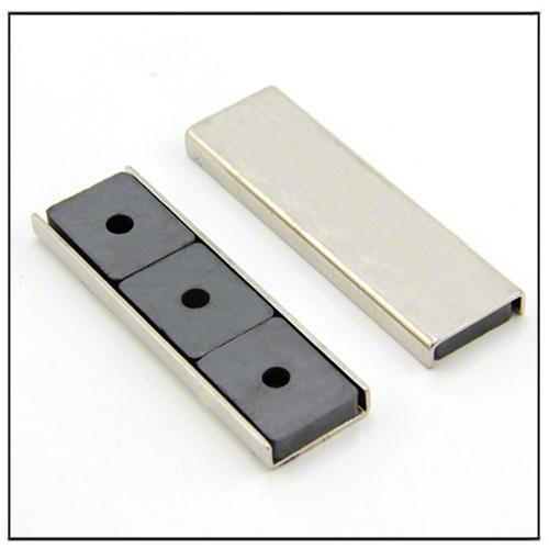 rectangular ceramic channel magnet