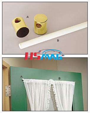 Magnetic Curtain Rod Holders