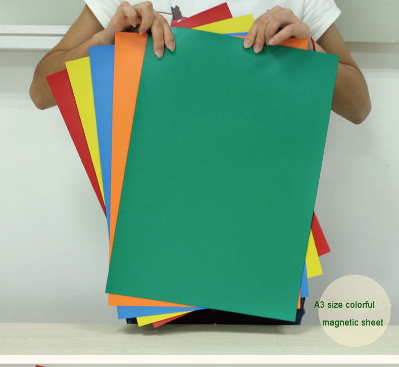 A3 Size Rubber Colorful Magnetic Sheet - Magnets By HSMAG