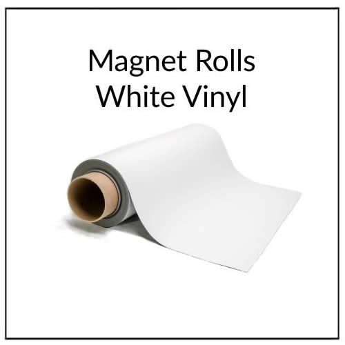Extra Wide Magnetic White Vinyl Rolls