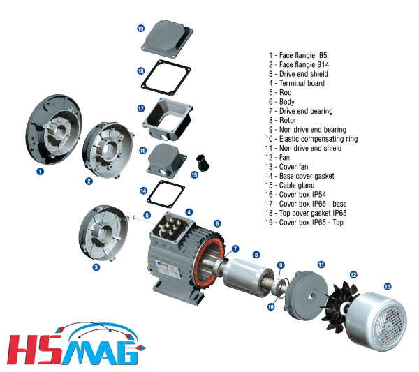 Electric Motor Replacement Parts And Diagram  Mags By