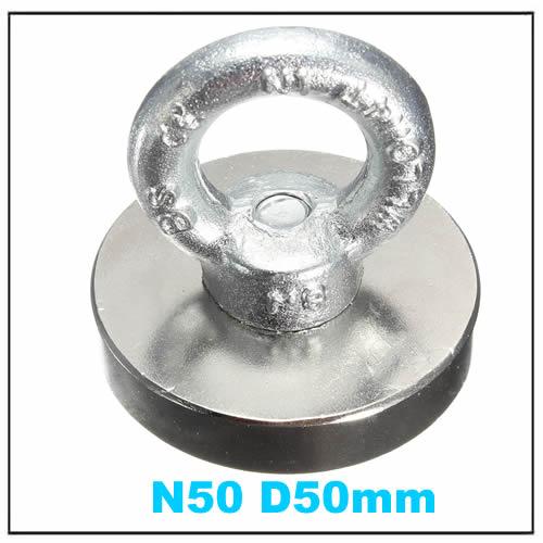 Metal Detector Neodymium Permanent Eyebolt Ring Magnet