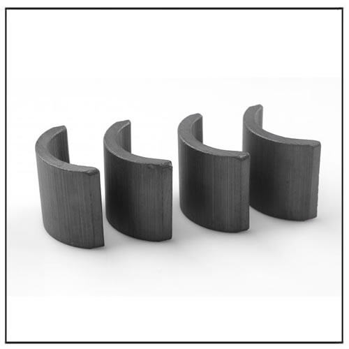 Segment Shaped Hard Ferrite Magnet