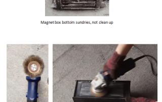 Demagnetization analysis on magnet box