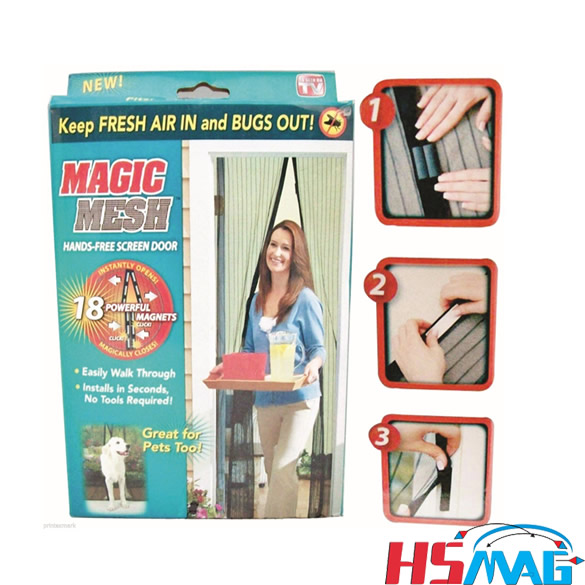 Magic Mesh Hands-Free Screen Door with magnets AS SEEN ON TV