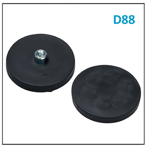 Neodymium Pot Magnet Rubber Base D88 M8