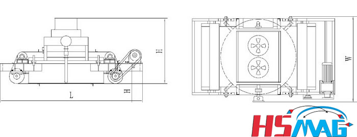 HSRCDFJ series oil forced circulation self-cleaning electromagnetic separator drawing