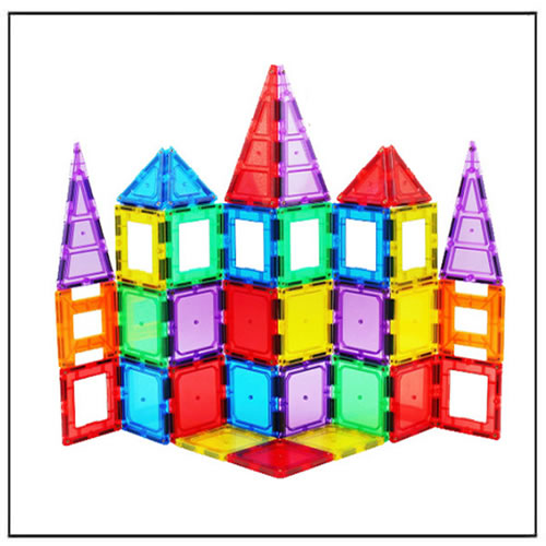 3D Color Magnet Building Tiles