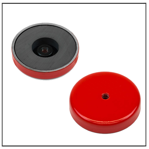 Dia 55mm Ceramic Limpet Pot Magnet with M6 Threaded Hole