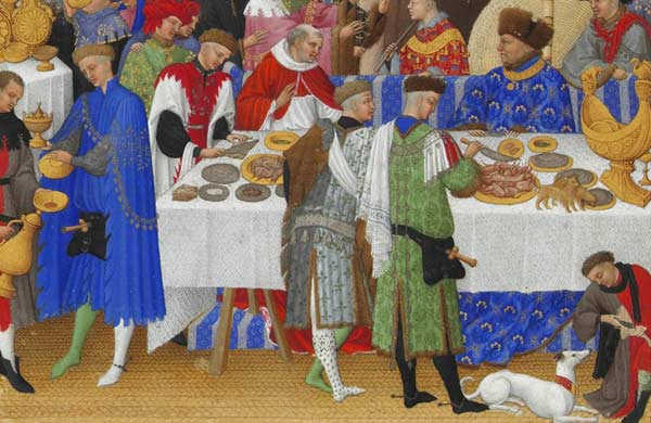 A feast of the Duc de Berry: painted around 1410