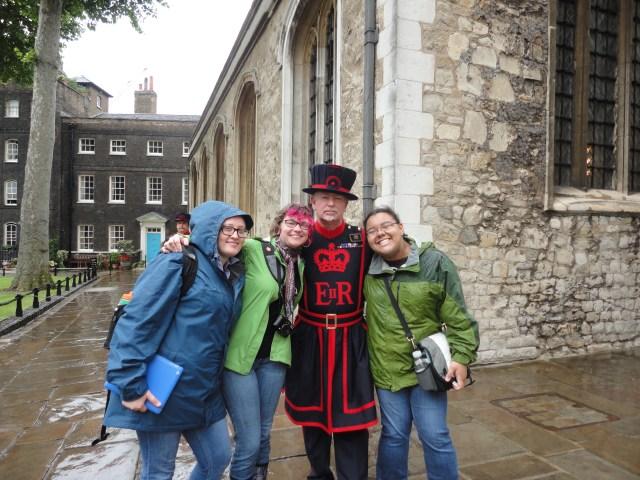 with SImon, the Yeoman Warder
