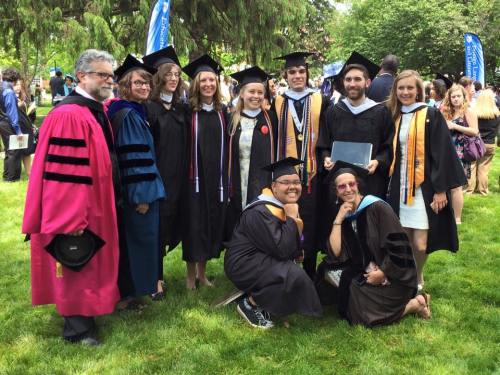 Some of our finest Hood College English majors at 2015 Commencement