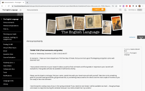 learning site with menu
