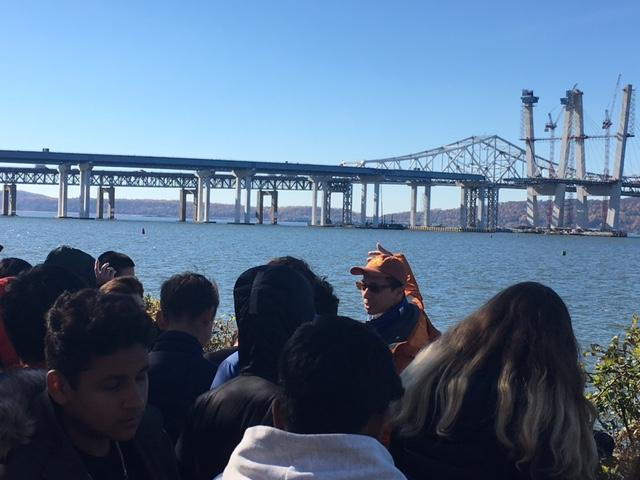Freshman class field trip to  the Tappan Zee Bridge