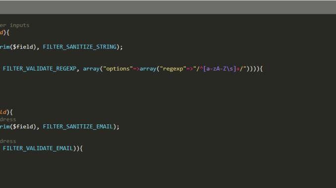 كود php التحقق من النموذج