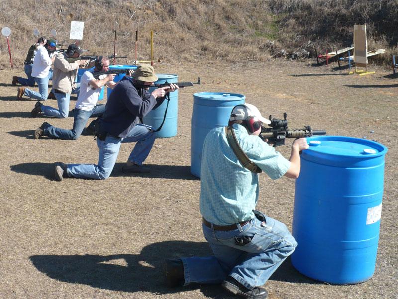 KR Training Defensive Long Gun 2009 Class - Students shooting from kneeling