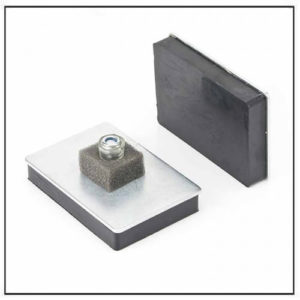 Rubber Coated Magnetic Pad w Thread Stud