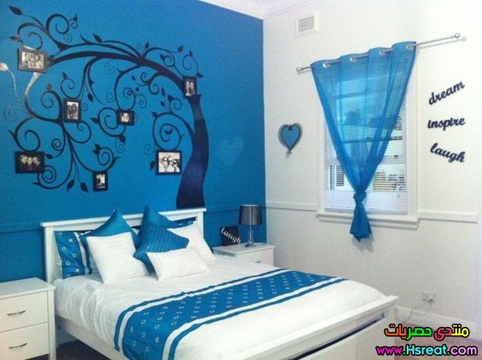 ديكور غرف نوم اطفال اولادي باللون الازرق جميلة جدا واحدث