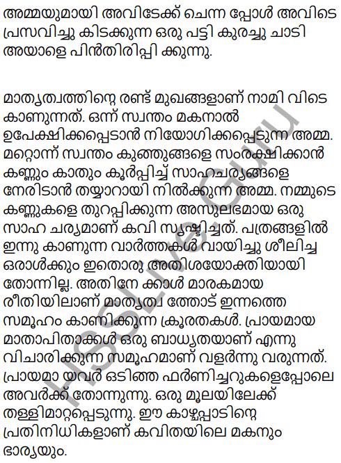 Adisthana Padavali Malayalam Standard 10 Solutions Unit 1 Chapter 3 Ammathottil 3