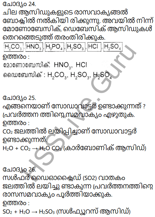 Kerala Syllabus 9th Standard Chemistry Solutions Chapter 5 Acids, Bases, Salts in Malayalam 11