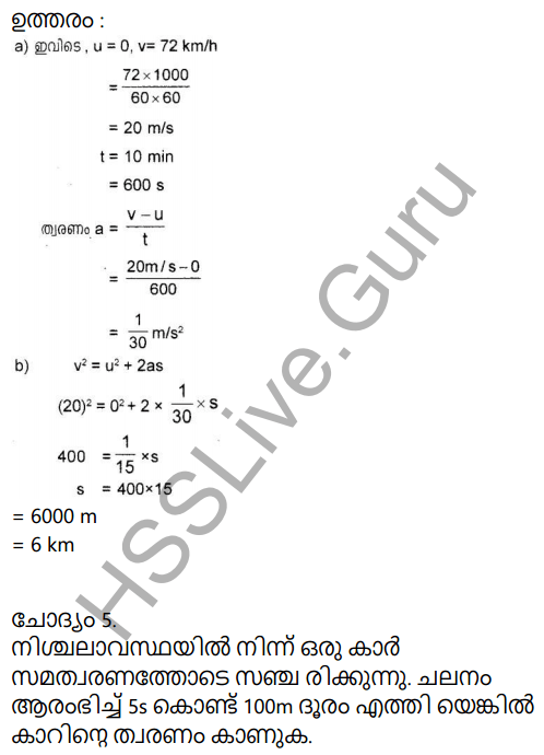 Kerala Syllabus 9th Standard Physics Solutions Chapter 2 Equations of Motion in Fluids in Malayalam 16